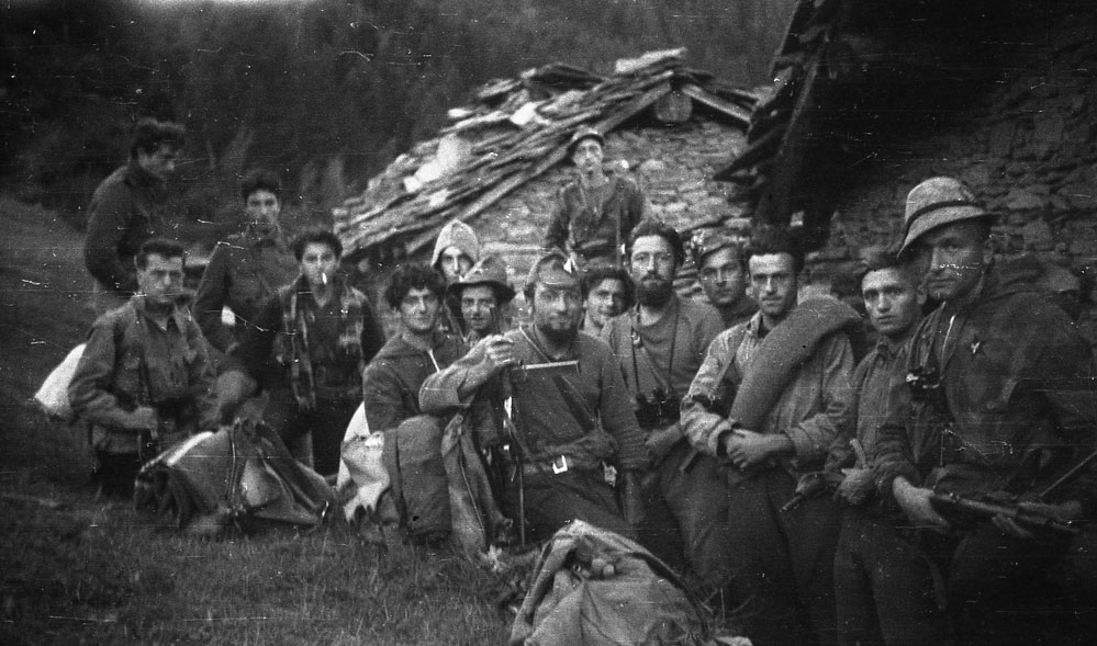 Resistance partisans in Val Chisone, Piemonte, Fall 1944. Image from the Adolfo Serafino Archive, Torino