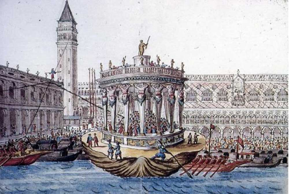 A Turkish tight-rope walker (canbaz) at the San Marco in Venice in the 18th century