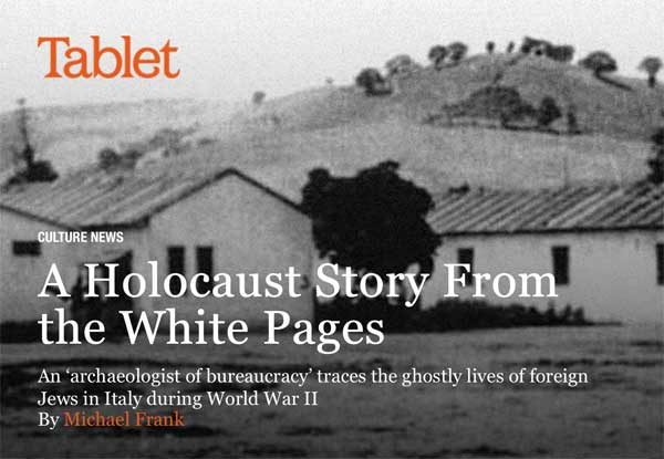 Tablet Magazine: A Holocaust Story Form The White Pages