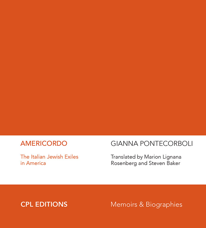 Gianna Pontecorboli, Americordo. The Italian Jewish Exiles In America