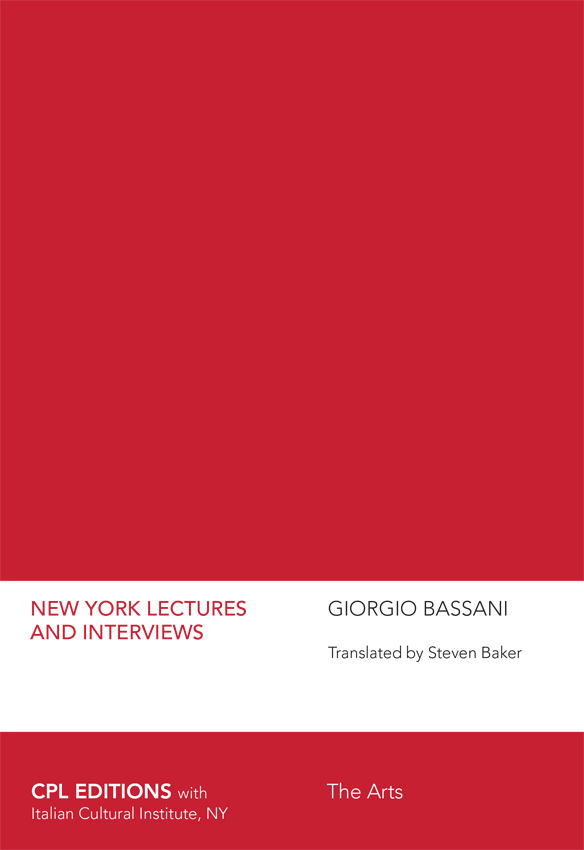 New York Lectures And Interviews, Giorgio Bassani